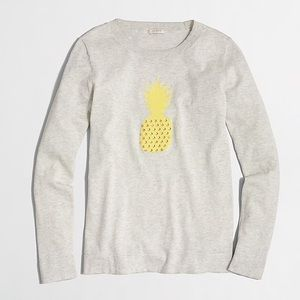 J Crew Factory • Pineapple Intarsia Sweater • sz S